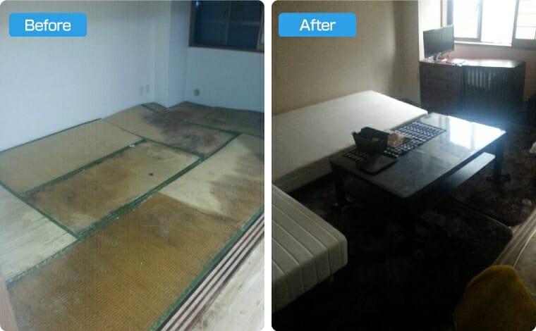 部屋の大掃除+不用品回収