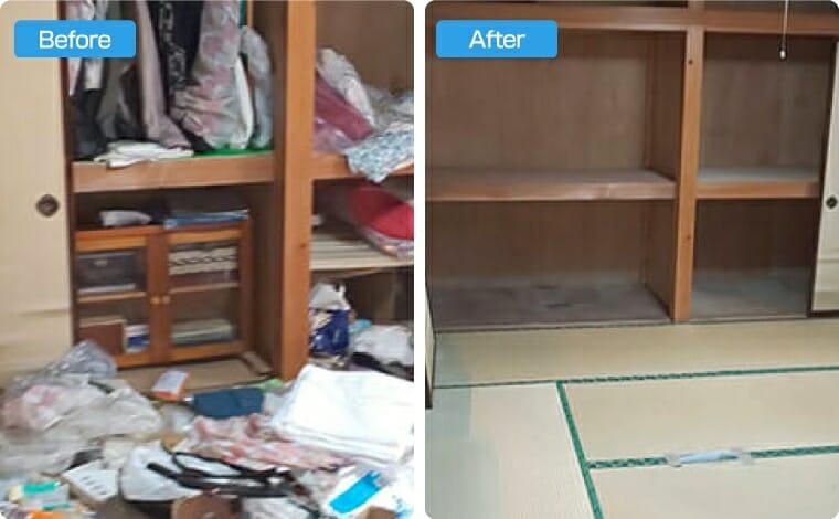 ゴミ屋敷の掃除回収