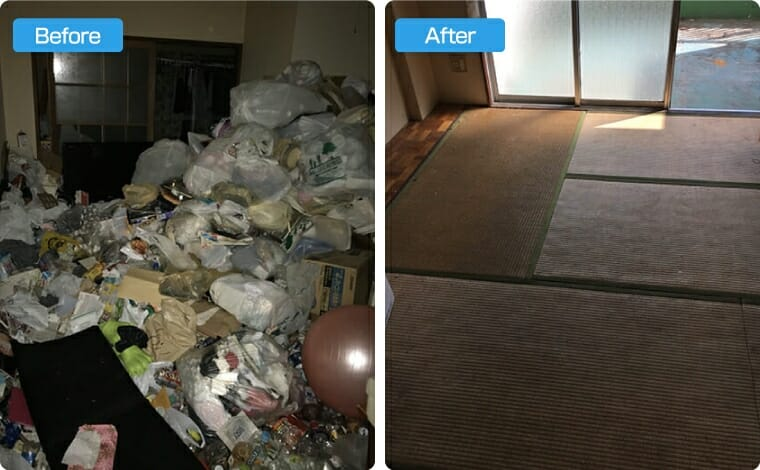 ゴミ屋敷の回収+大掃除