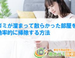 ゴミが溜まって散らかった部屋を効率的に掃除する方法!