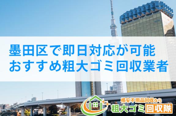 【2021年最新】墨田区で即日対応が可能!おすすめ粗大ゴミ回収業者5選